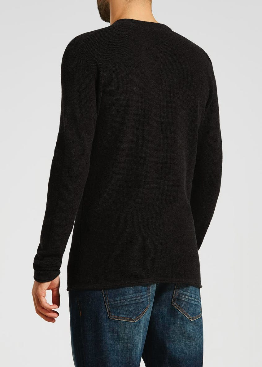Morley Grandad Neck Knit