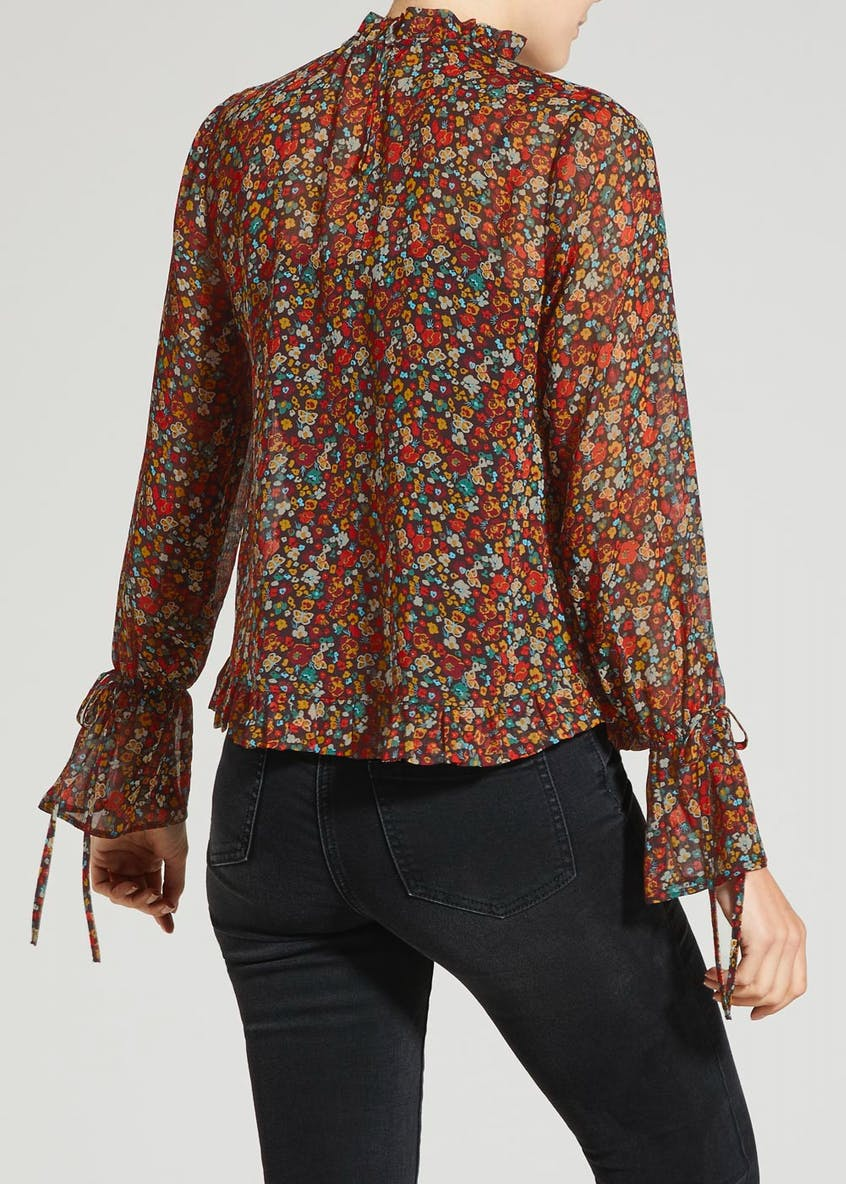 Ditsy Floral Bell Sleeve Blouse