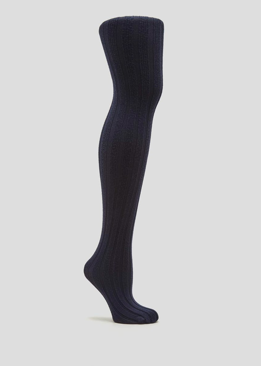 1 Pair Soft Touch Ribbed Knitted Tights