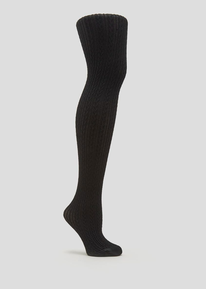 1 Pair Soft Touch Chevron Knitted Tights