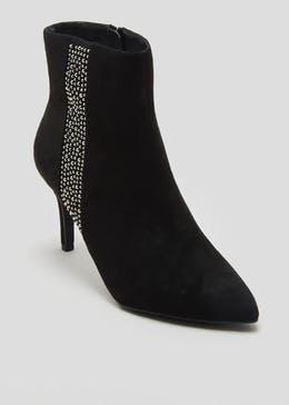 Pointed Diamante Shoe Boots