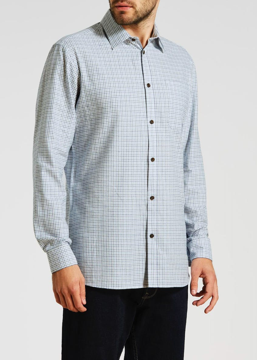 Greaves Long Sleeve Tattersall Check Shirt