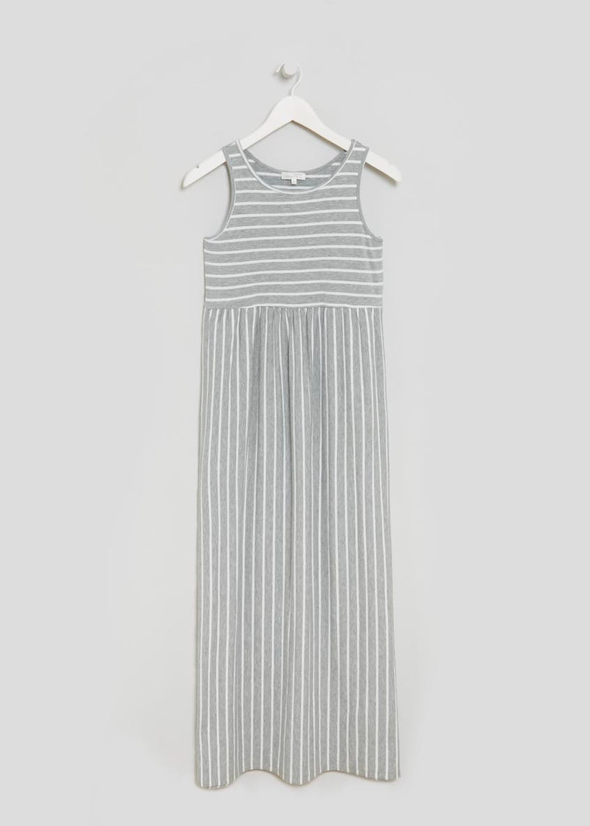Maternity Stripe Maxi Dress