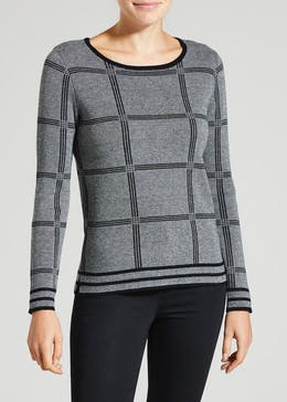 Check Jacquard Jumper