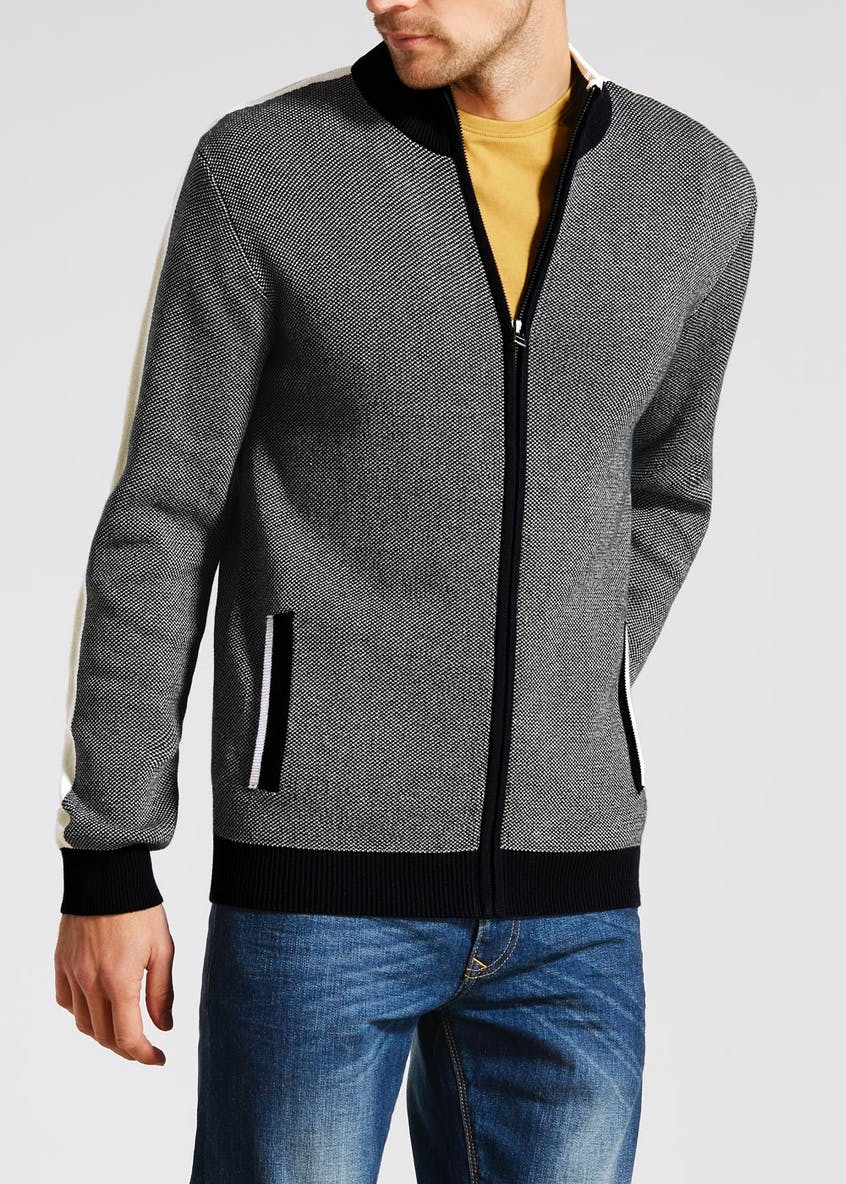Knitted Zip Through Jacket