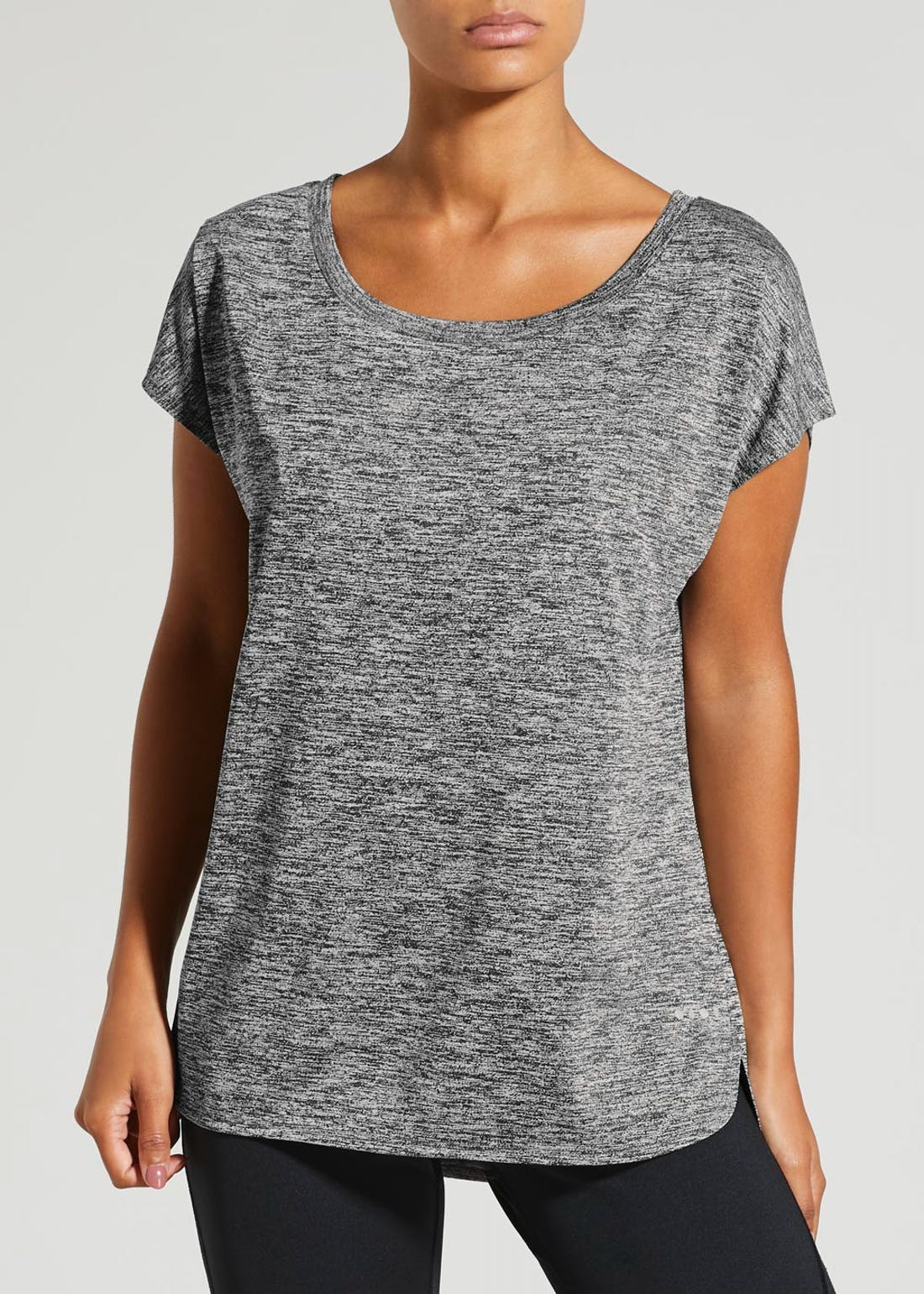 Souluxe Grey Slouch Gym T-Shirt