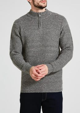 Fishermans Rib Half Zip Jumper