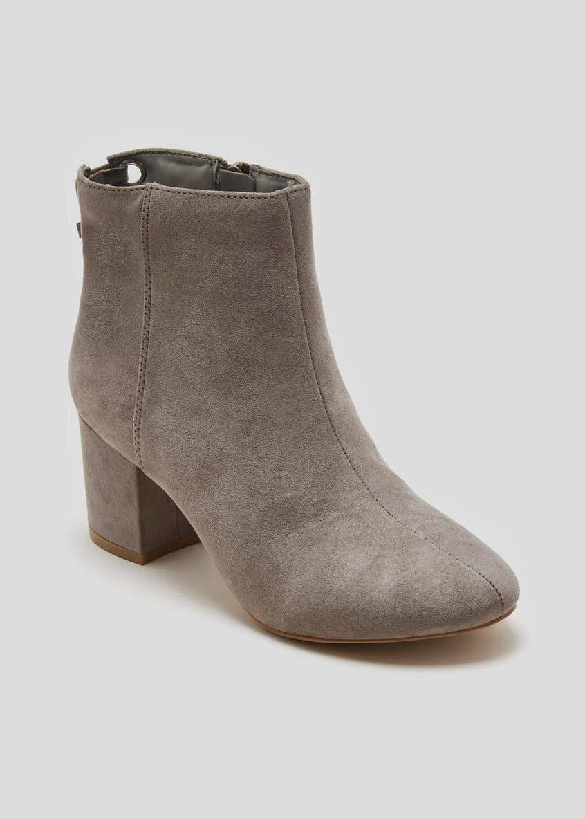 Wide Fit Eyelet Ankle Boots