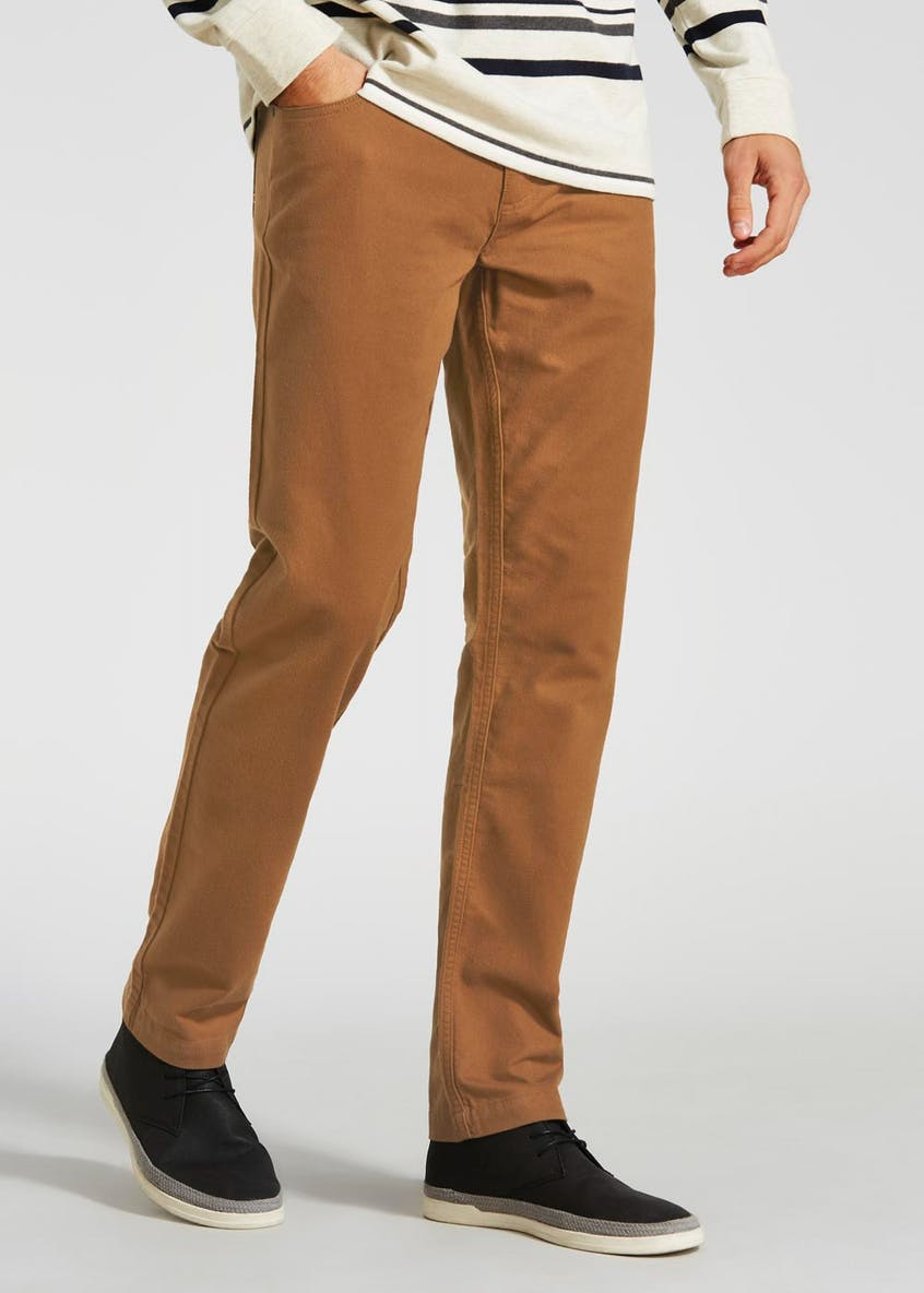 Lincoln Straight Fit Moleskin Trousers