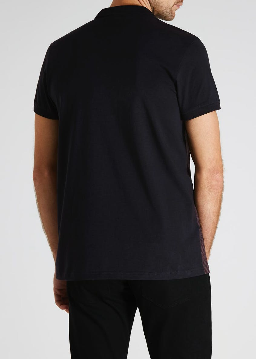 Check Panel Polo Shirt