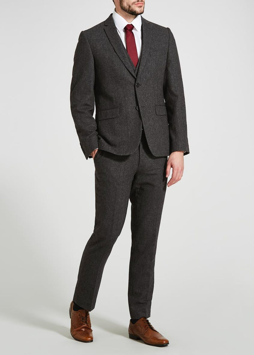 Davis Slim Fit Donegal Suit Trousers