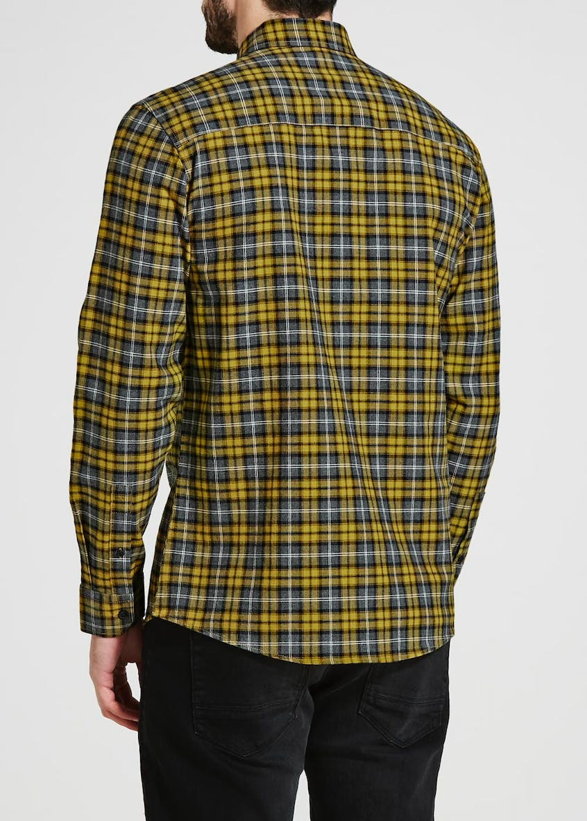 Long Sleeve Grid Check Shirt