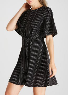Stripe Tie Front Dress