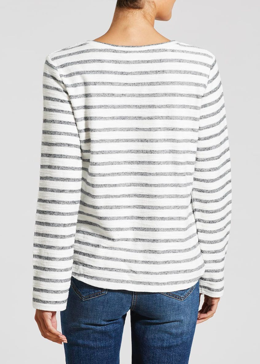 Falmer Lace Yoke Stripe Sweatshirt