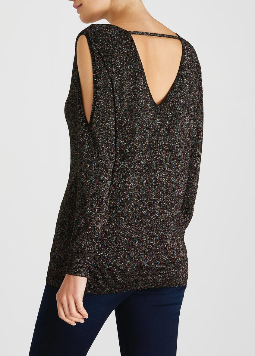 Soon Lurex Cold Shoulder Jumper