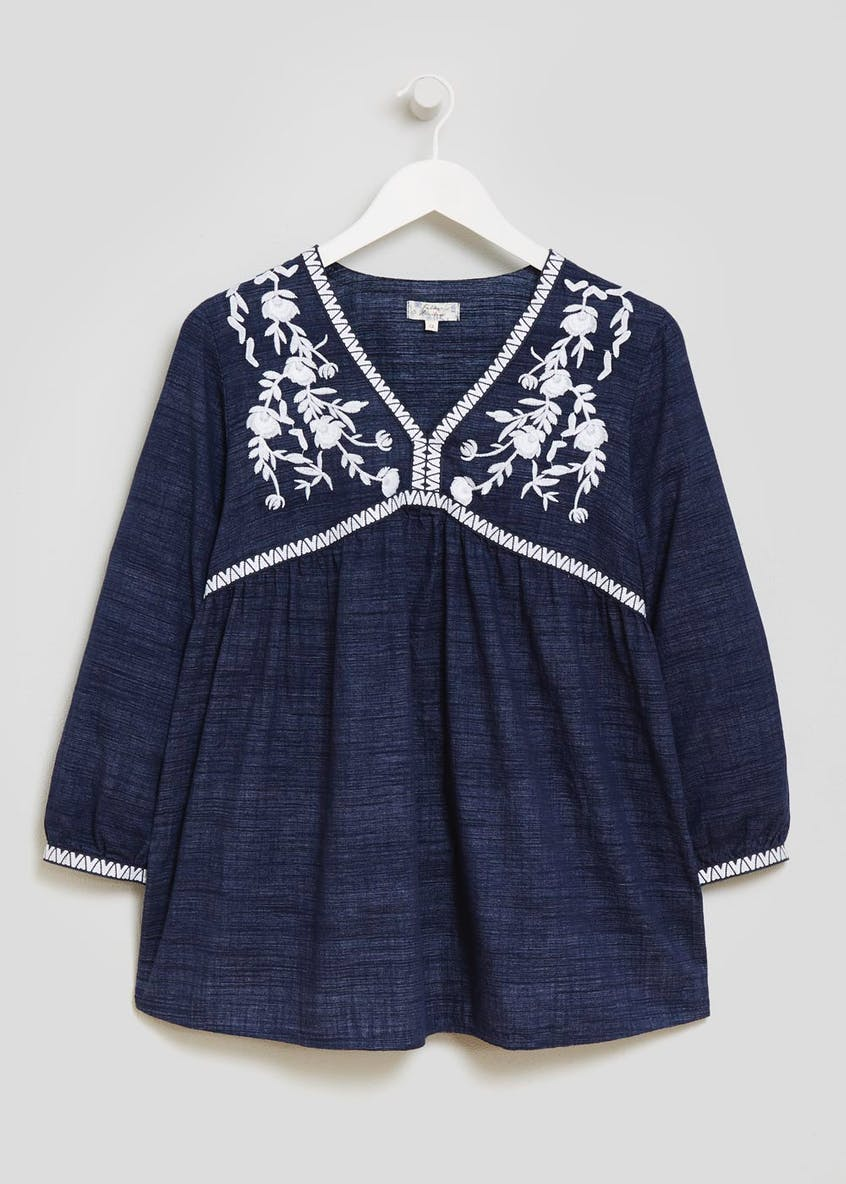 Falmer Embroidered Smock Blouse
