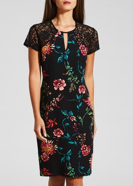 Soon Floral Lace Sleeve Dress