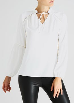Ladder Trim Blouse