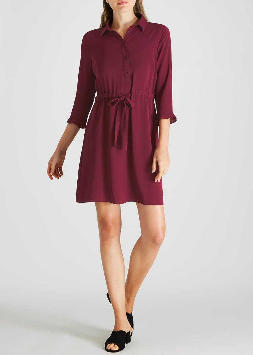 Frill Shirt Dress