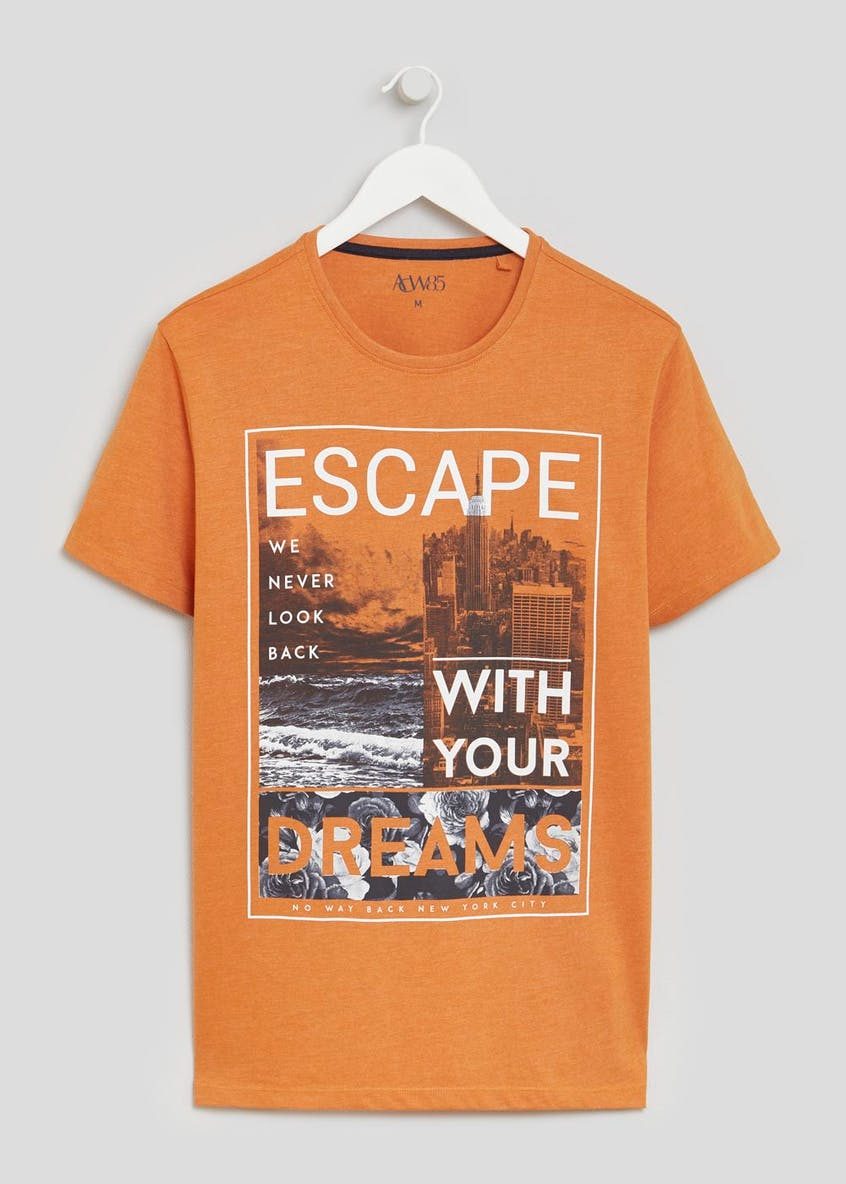Big & Tall Escape Slogan T-Shirt