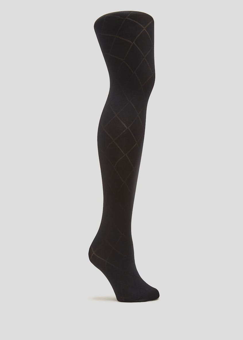 1 Pair Diamond Texture Tights