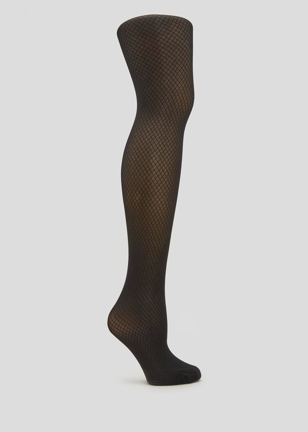 82e95c29b88 1 Pair Diamond Texture Tights – Black – Matalan