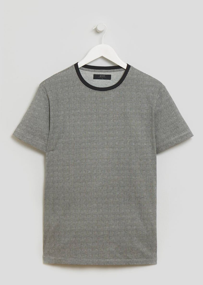 Check Crew Neck T-Shirt