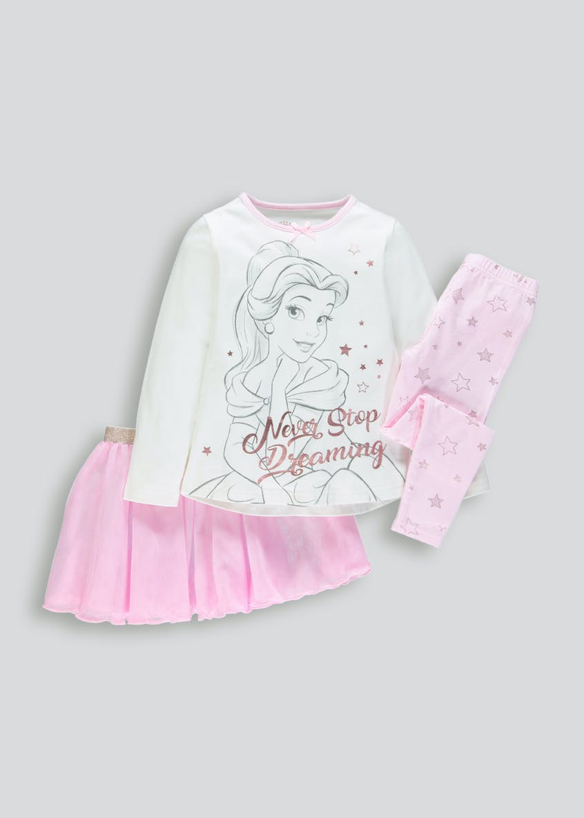 Kids Disney Beauty and the Beast Tutu Pyjama Set (2-9yrs)