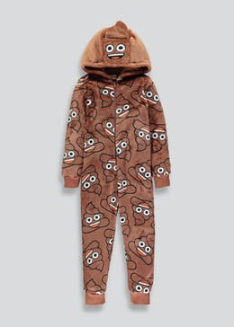 Kids Poop Emoji Novelty Onesie (6-13yrs)
