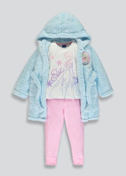 Kids Disney Frozen Dressing Gown & Pyjama Set (2-9yrs)