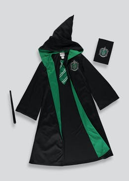 Kids Harry Potter Slytherin Fancy Dress Costume (5-12yrs)