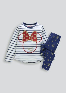 Kids Disney Minnie Mouse Pyjama Set (18mths-11yrs)
