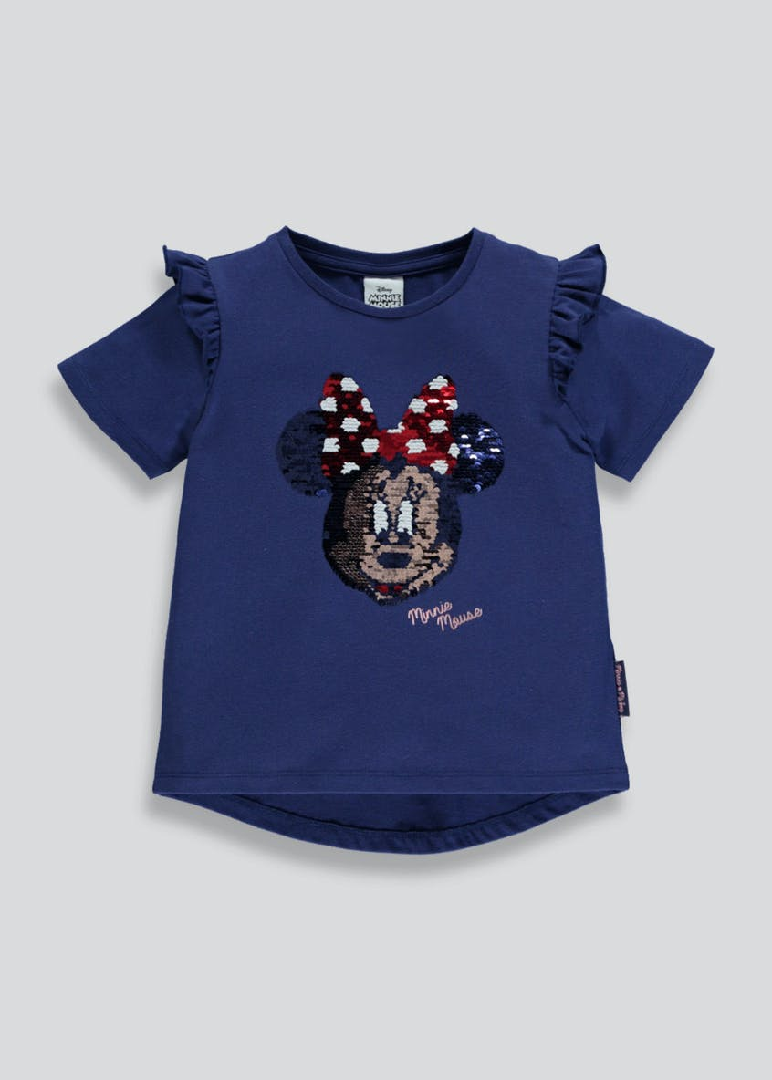 Kids Disney Minnie Mouse Two Way Sequin T-Shirt (3-9yrs)