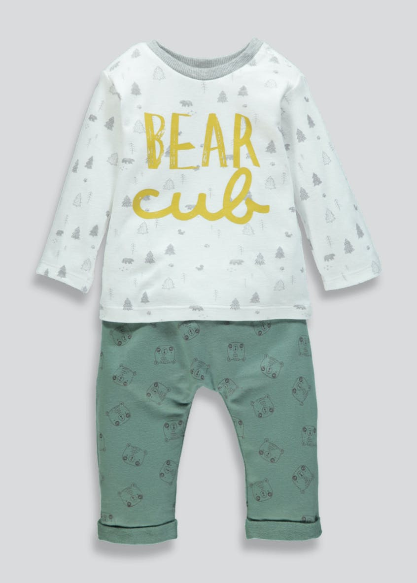 Unisex Bear Cub T-Shirt & Jogging Bottoms Set (Newborn-18mths)
