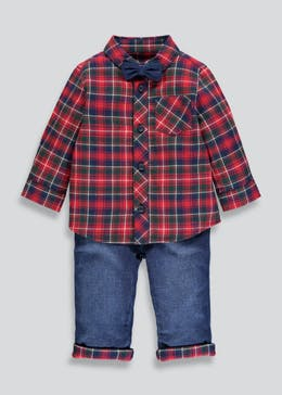 Boys Check Shirt & Jeans Set (Newborn-18mths)