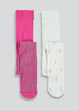 Girls 2 Pack Party Tights (2-11yrs)