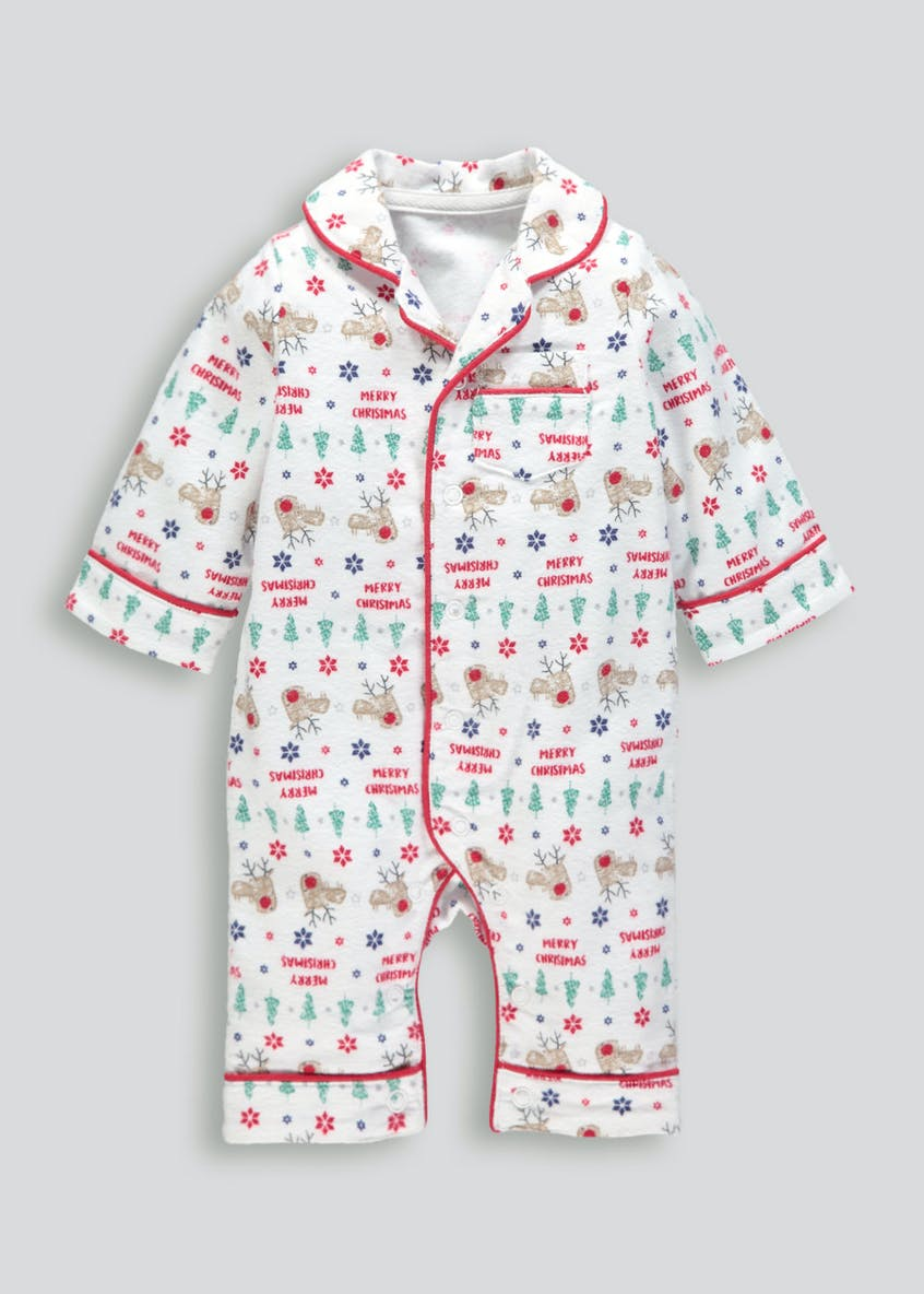 Unisex Christmas Brushed Cotton Romper (Newborn-18mths)