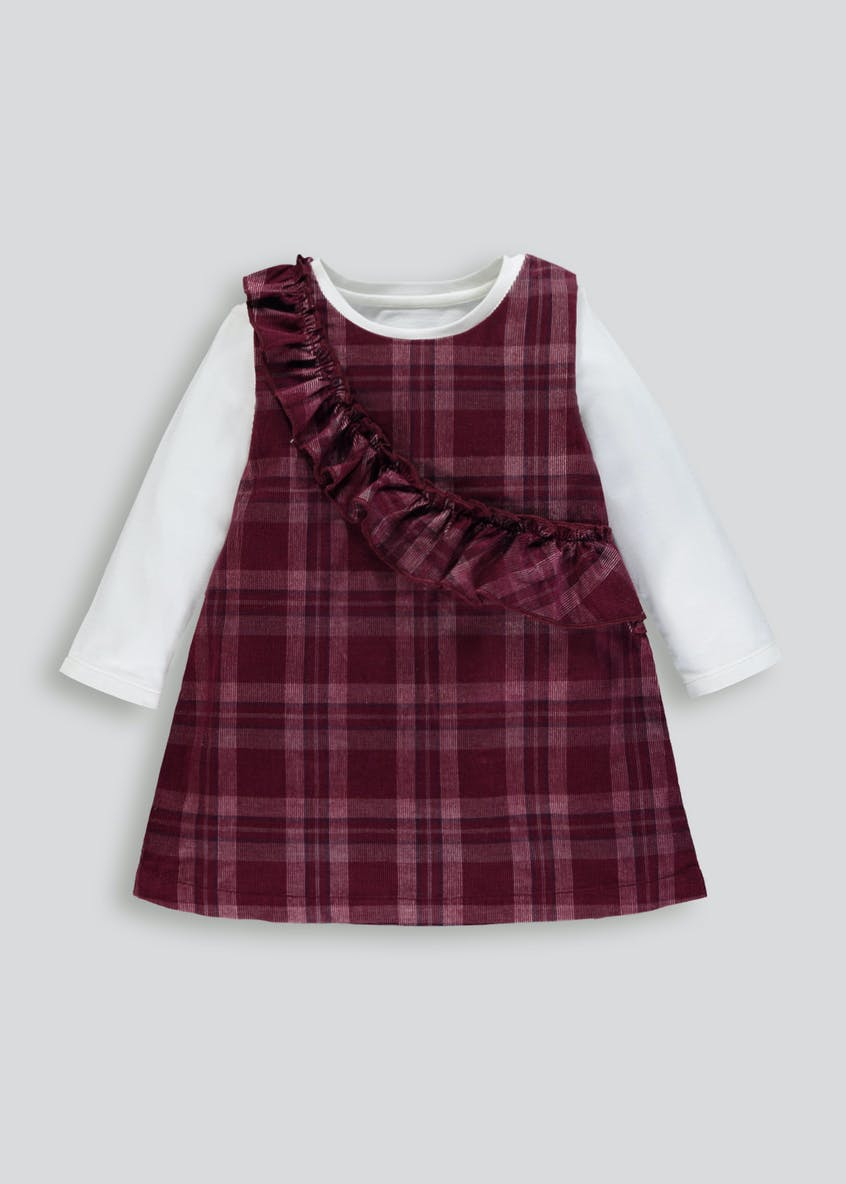 Girls Check Frill Dress & Top Set (3mths-6yrs)