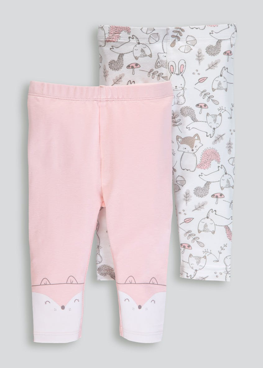 Girls 2 Pack Leggings (Tiny Baby-18mths)
