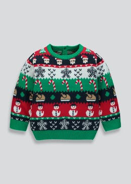 Mini Me Kids Fair Isle Christmas Jumper (3mths-3yrs)