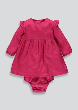 Girls Floral Dress & Knickers (Tiny Baby-18mths)