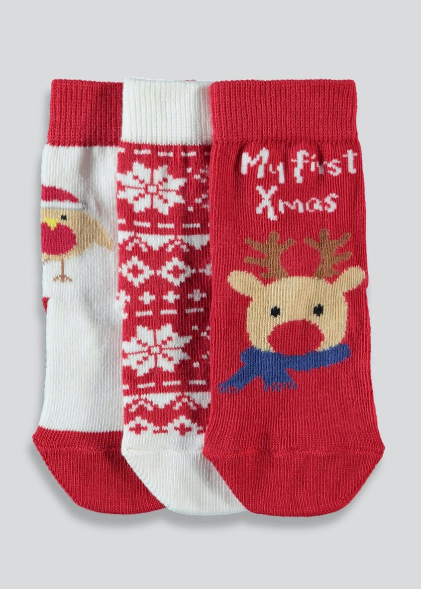 Unisex My First Christmas Socks (Newborn-2.5)