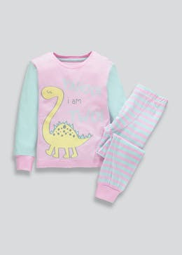 Girls I am 2 Dinosaur Pyjama Set (2yrs)