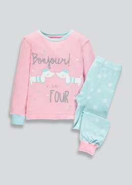 Girls I am 4 Dog Pyjama Set (4yrs)