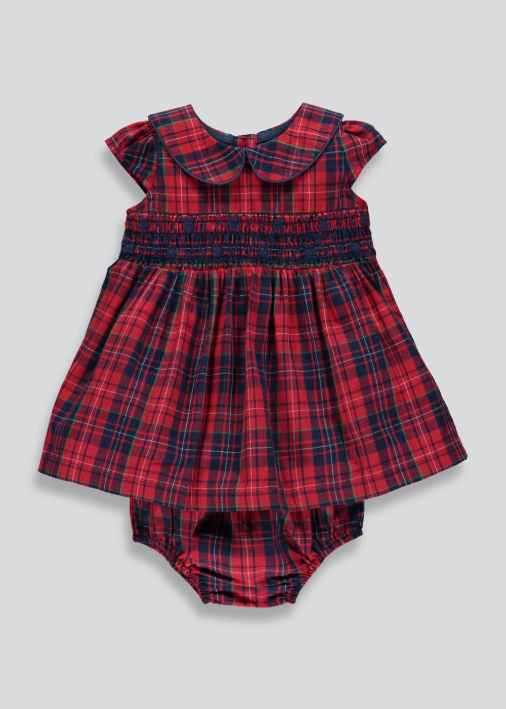 44117c866d Girls Check Dress & Knickers (Tiny Baby-18mths) – Red – Matalan