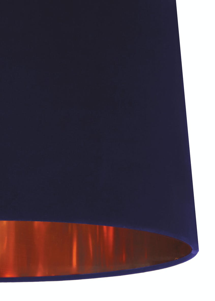 Ada Velvet Drum Easy Fit Lamp Shade (W36cm x H23cm)