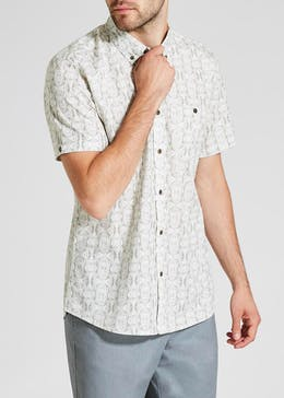 Big & Tall Short Sleeve Batik Print Shirt