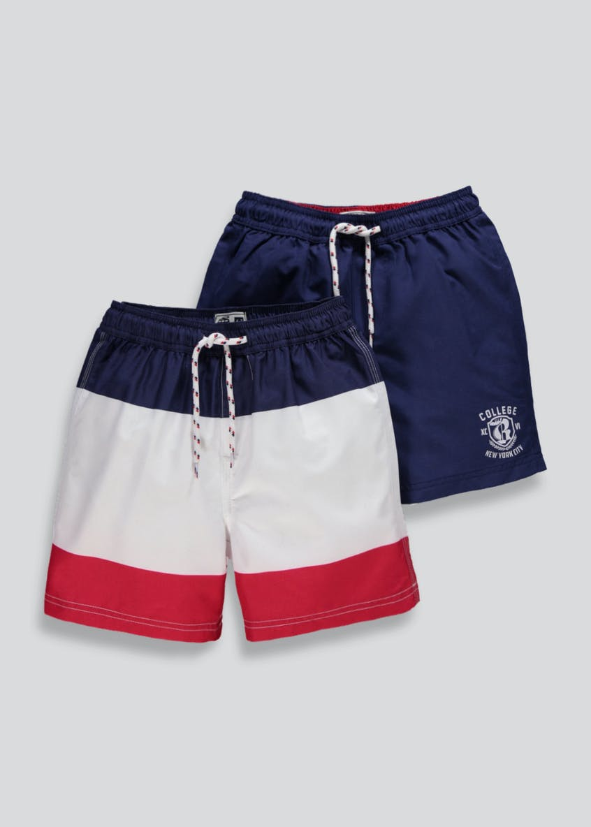 Boys 2 Pack Swimming Shorts (4-13yrs)