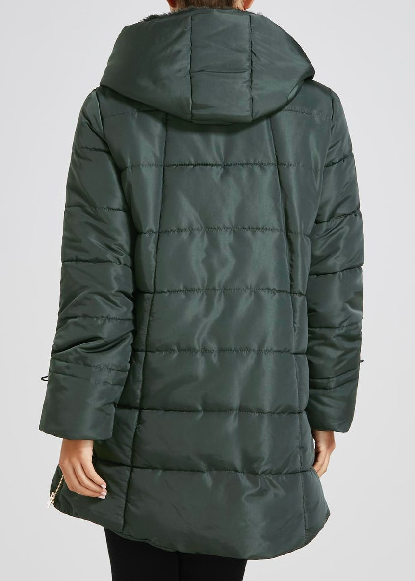 Double Breasted Wrap Padded Coat