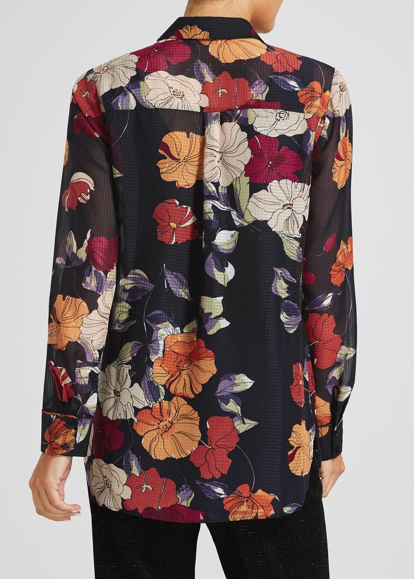 Soon Grace Floral Textured Shirt